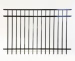 Brookhaven 3 Rail Smooth Top Metal Fencing