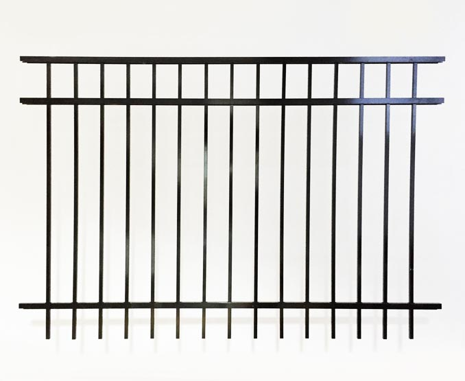 3 Rail Smooth Top Aluminum Fence Panel Fence Workshop