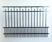 Cobb Aluminum Smooth Top Fence Panel With Puppy Pickets