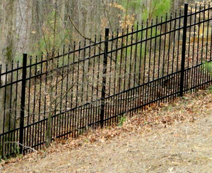 4 Rail Spear Top Puppy Picket Aluminum Fence Panel Fws