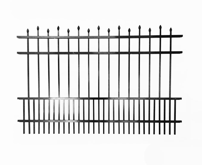 4 Rail Spear Top Puppy Picket Aluminum Fence Panel | FWS