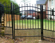 Dublin Walk Gate Installed With Dog Panel