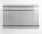 Dunwoody Alternating Double-Picket Speartop Metal Fencing