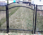 Buford Arched Double Picket Aluminum Gate