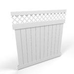 Vinyl Privacy Fence Panel with Lattice