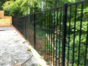 2 Rail Smooth Top Aluminum Fence