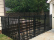 3 Rail Smooth Top Double Picket Aluminum Fence