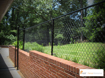 black vinyl coated chain link picture