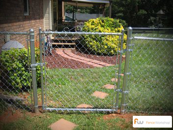 Chain Link garden fencing and landscape design in Georgia, Florida and North Carolina.
