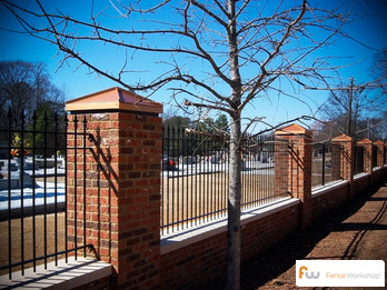 Wrought iron fencing by Fence Workshop in GA, FL and NC.