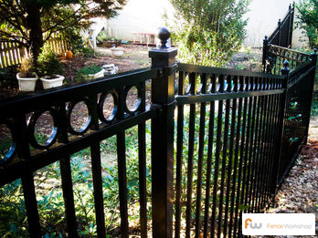 Beautiful aluminum fence installation in Tampa, FL