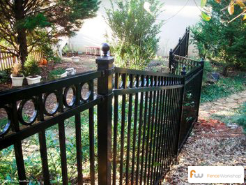 echelon aluminum fence supplied by