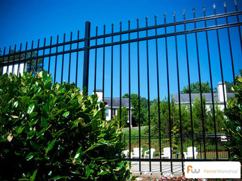 Steel fence installation in Orlando, FL