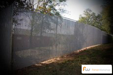 Chain link fencing privacy slats supply, installation and delivery in Georgia, Florida and North Carolina.