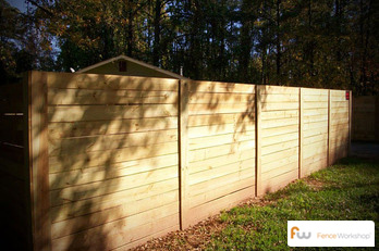 Horizontal Board wood privacy fencing sales and install in GA, Fl and NC.
