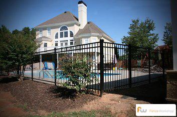 Aluminum fence installation in and around Savannah, GA