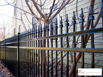 Steel fencing supply and installation in Athens, GA