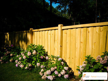 Wood fence landscape design and installation in Georgia, Florida and North Carolina.