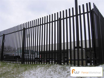 Impasse security fence installation