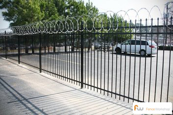Steel and aluminum security fencing