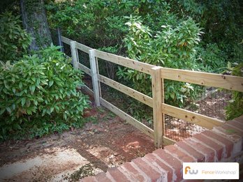 Wood post and Rail Fencing sales and installation in Georgia, Florida and North Carolina.
