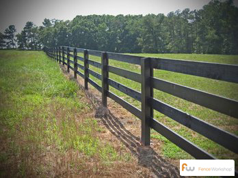 Wood post and rail fencing in the Southeast from Fence Workshop™ in Georgia, Florida and North Carolina.