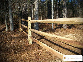 Wood Split Rail Fence installation in Georgia, Florida and North Carolina.