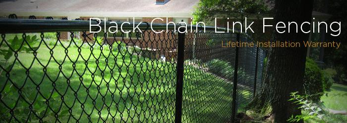 Commercial Black Vinyl Coated Chain Link Fencing Fence Workshop