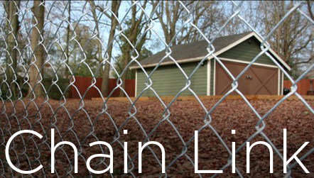 Chain link fence button