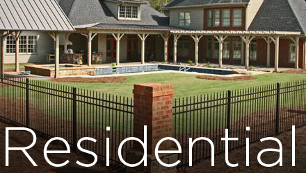 residential fence button commercial