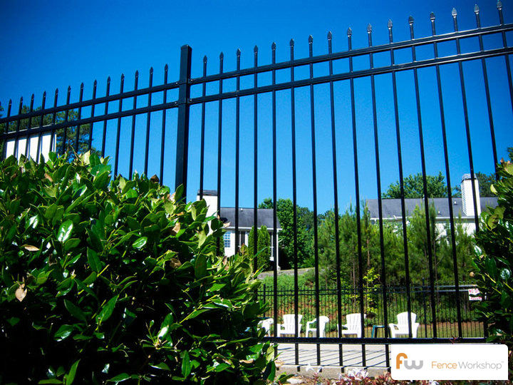 Steel fencing installation in Athens, GA