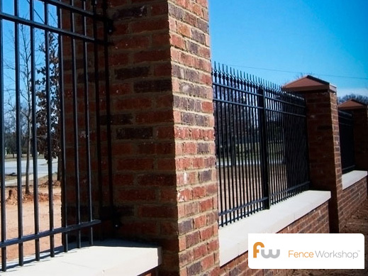 Wrought iron pool fences