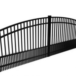 Berkley Smooth Top Puppy Picket Driveway Gate