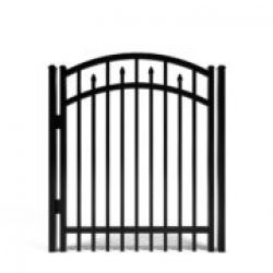 Candler Decorative Arched Aluminum Walk Gate