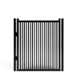 Sharpsburg Smooth Top Double-Picket Aluminum Walk Gate