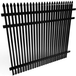 Athens Double Picket Speartop Aluminum Fence Panel