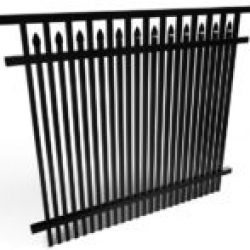 Chamblee Double Picket Inset Spear Fencing Panel