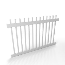 Vinyl Picket Fence Panel Style A