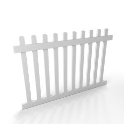 Vinyl Picket Fence Panel Style C