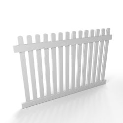 Vinyl Picket Fence Panel Style D