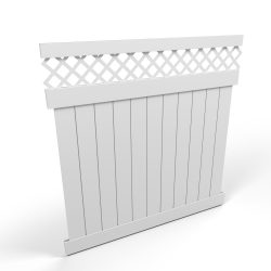 Vinyl Privacy Fence Panel with Lattice