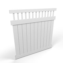 Vinyl Privacy Fence Panel with Spindles