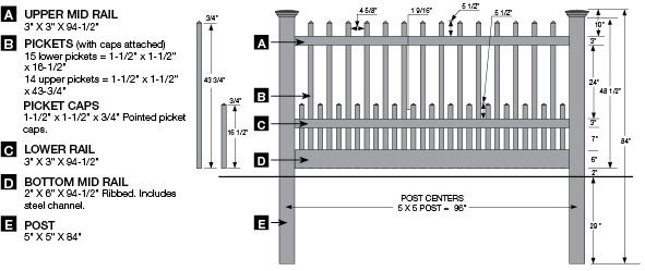 See an image of the Bufftech Classic Canterbury Vinyl Picket Fence