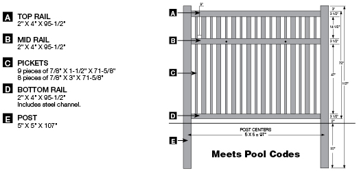 See an image of the Bufftech Contemporary Monarch Vinyl Picket Fence