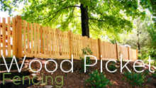 wood picket fences